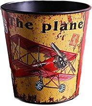 Dekoratives Papierkorb, PU. Leder Vintage