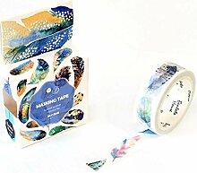 Dekoratives Washi Tape 1/2/3Pcs Buntes Feder Washi