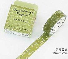 Dekoratives Washi Tape 2Pcs Jugendliche Washi Tape