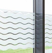 Dekorfolie statische Fensterfolie Wave Wellen