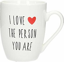 Dekoria Becher 'I Love The Person.' 330ml