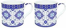 Dekoria Becher Set Marrakesh white&dark blue 2 Stck. 300ml