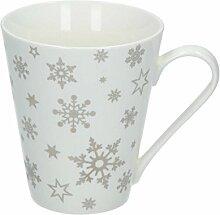 Dekoria Becher Snowflakes 250ml Geschenk
