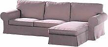 Dekoria Ektorp 2-Sitzer Sofabezug mit Recamiere