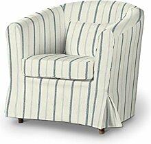 Dekoria Fire Retarding IKEA EKTORP Tullsta Stuhl Cover–Blau Streifen