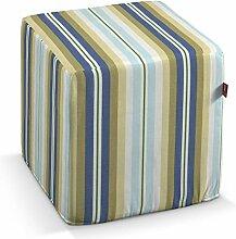 Dekoria Harter Sitzwürfel 40 x 40 x 40 cm blau- beige