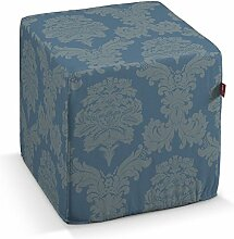 Dekoria Harter Sitzwürfel 40 x 40 x 40 cm blau
