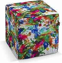 Dekoria Harter Sitzwürfel 40 x 40 x 40 cm bun