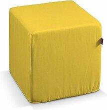 Dekoria Harter Sitzwürfel 40 x 40 x 40 cm gelb
