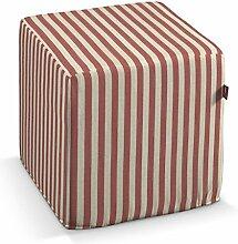 Dekoria Harter Sitzwürfel 40 x 40 x 40 cm Rot-Ecru