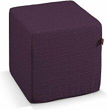 Dekoria Harter Sitzwürfel 40 x 40 x 40 cm viole