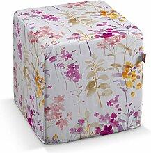 Dekoria Harter Sitzwürfel 40 x 40 x 40 cm violett-orange