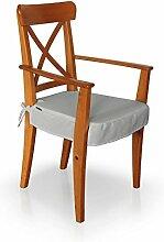 Dekoria IKEA INGOLF Stuhl (mit Armlehnen) Seat Pad Cover–Dove Grau Chenille