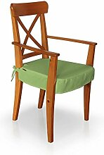 Dekoria IKEA INGOLF Stuhl (mit Armlehnen) Seat Pad Cover–Hellgrün