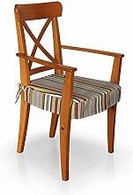 Dekoria IKEA INGOLF Stuhl (mit Armlehnen) Seat Pad Cover–Mehrfarbig Streifen