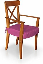 Dekoria IKEA INGOLF Stuhl (mit Armlehnen) Seat Pad Cover–Pink