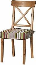 Dekoria IKEA INGOLF Stuhl Sitz Pad Cover–Mehrfarbig Streifen
