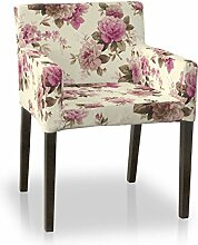 Dekoria IKEA NILS Stuhl Cover–Pink & Beige Roses