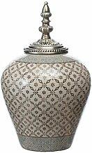 Dekoria Keramikvase mit Deckel Shiho 36cm Geschenk
