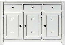 Dekoria Kommode Noa White 3 Türen + 3 Schubladen