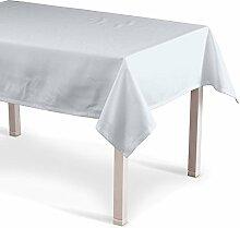 Dekoria Rechteckige Tischdecke 130 x 130 cm Tischdekoration weiss