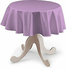 Dekoria Runde Tischdecke Ø 135 cm Tischdekoration lavendel