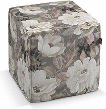 Dekoria Sitzwürfel 40 × 40 × 40 cm grau-rosa