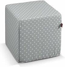 Dekoria Sitzwürfel 40 × 40 × 40 cm grau- Weiss