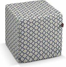 Dekoria Sitzwürfel 40 × 40 × 40 cm grün-grau
