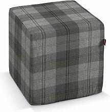 Dekoria Sitzwürfel 40 × 40 × 40 cm schwarz-grau