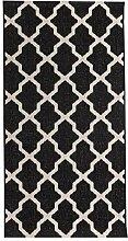 Dekoria Teppich Cottage Black/Wool 67x130cm