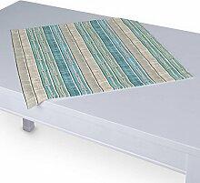 Dekoria Tischdecke mit breitem Saum 60 x 60 cm blau-beige