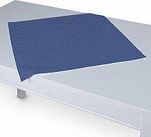 Dekoria Tischdecke mit breitem Saum 60 x 60 cm blau- weiss