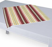 Dekoria Tischdecke mit breitem Saum 60 x 60 cm bordeaux- beige