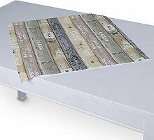 Dekoria Tischdecke mit breitem Saum 60 x 60 cm braun-grau
