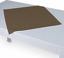 Dekoria Tischdecke mit breitem Saum 60 x 60 cm braun