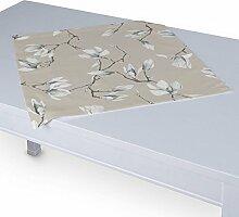 Dekoria Tischdecke mit breitem Saum 60 x 60 cm grau- beige