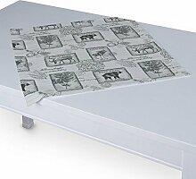 Dekoria Tischdecke mit breitem Saum 60 x 60 cm grau