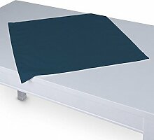 Dekoria Tischdecke mit breitem Saum 60 x 60 cm marinenblau