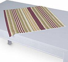 Dekoria Tischdecke mit breitem Saum 60 x 60 cm olive-violett-beige