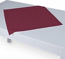 Dekoria Tischdecke mit breitem Saum 60 x 60 cm pflaume