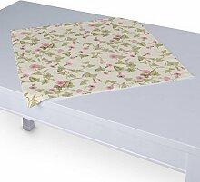 Dekoria Tischdecke mit breitem Saum 60 x 60 cm rosa-creme