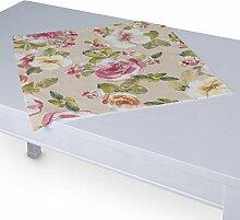 Dekoria Tischdecke mit breitem Saum 60 x 60 cm rosa-grün