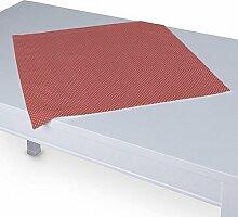 Dekoria Tischdecke mit breitem Saum 60 x 60 cm rot- weiss