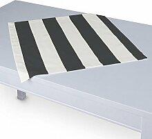 Dekoria Tischdecke mit breitem Saum 60 x 60 cm schwarz-weiß
