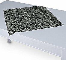 Dekoria Tischdecke mit breitem Saum 60 x 60 cm schwarz