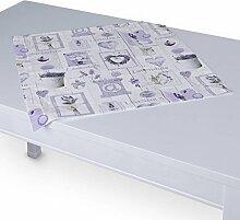 Dekoria Tischdecke mit breitem Saum 60 x 60 cm viole