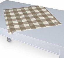 Dekoria Tischdecke mit breitem Saum 60 x 60 cm weiss-beige karier
