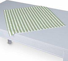 Dekoria Tischdecke mit breitem Saum 60 x 60 cm weiss-grün gestreif