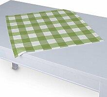 Dekoria Tischdecke mit breitem Saum 60 x 60 cm weiss-grün karier